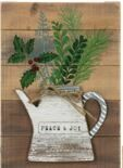 PRINTED PLAQUES HOLLY BERRIES