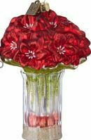 RED AMARYLLIS IN VASE ORNAMENT