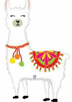 45 - LLAMA WITH BRIGHT COLORS BALLOON