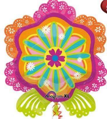 27 - PINK & ORANGE INTRICATE FLOWER