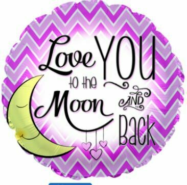 18 - LOVE YOU TO THE MOON GIRL FOIL BALLOON