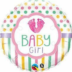 18 - FOIL BABY GIRL FEET