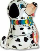 25 - DALMATION WITH BOWTIE AND BALL
