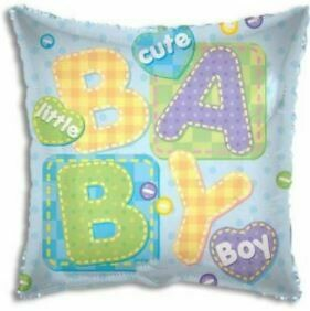 SQUARE BABY BOY PATCHWORK BALLOON