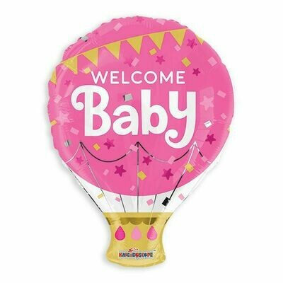 18 - WELCOME BABY HOT AIR BALLOON GIRL