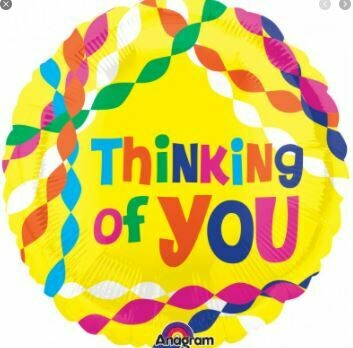 18 - YELLOW THINKING OF YOU STREAMERS