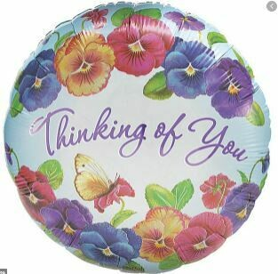 THINKING OF YOU PANSIES BALLOON