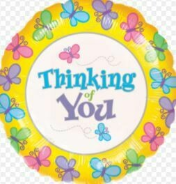 THINKING OF YOU BUTTERFLIES BALLOON