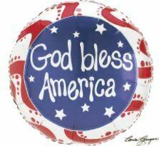 GOD BLESS AMERICA BALLOON