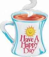 "39"" HAPPY DAY COFFEE CUP SHAPE"