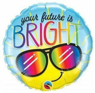 18 - YOUR FUTURE IS BRIGHT SMILEY FACE WITH SHADES
