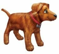 36 - GOLDEN DOG WITH RED COLLAR