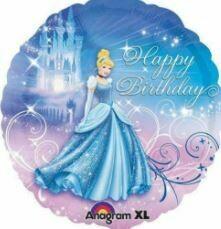 CINDERELLA XL HAPPY BIRTHDAY BALLOON