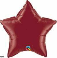 18 - METALLIC SOLID STAR BURGUNDY