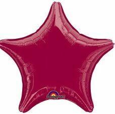 18 - METALLIC SOLID LIGHT BURGANDY STAR