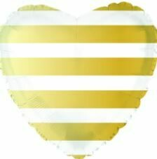 18 - HEART GOLD AND WHITE STRIPE