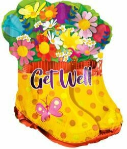 18 - GET WELL RAINBOOTS WITH FLOWERS
