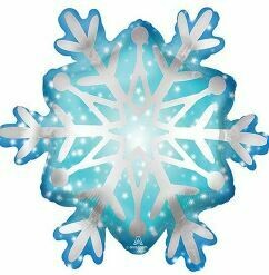 27 - BLUE AND SILVER SNOWFLAKE SHAPE