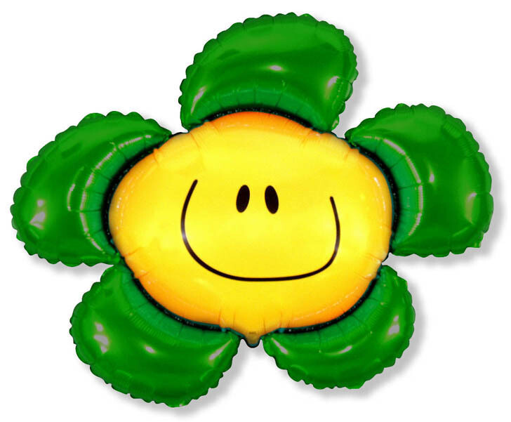 41 - GREEN SMILEY FACE FLOWER