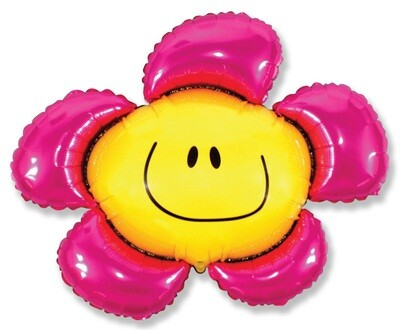 41 - PINK SMILEY FACE FLOWER