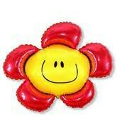 41 - RED SMILEY FACE FLOWER