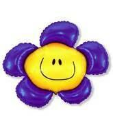 41 - PURPLE SMILEY FACE FLOWER