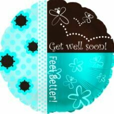 18 - GET WELL FEEL BETTER BLUE AND BROWN