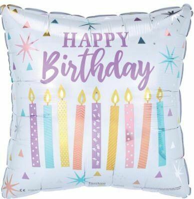 17 - HAPPY BIRTHDAY PASTEL BIRTHDAY CANDLES