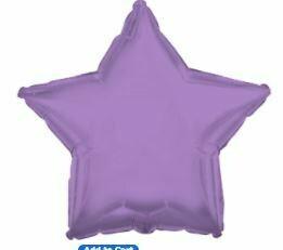 18 - METALLIC SOLID STAR LAVENDER