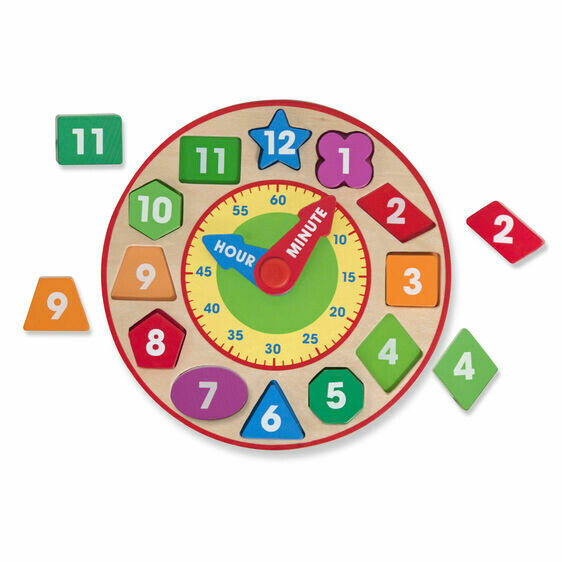 8593-DEVELOPMENTAL TOYS - SHAPE SORTING CLOCK SHAPE SORTING CLOCK