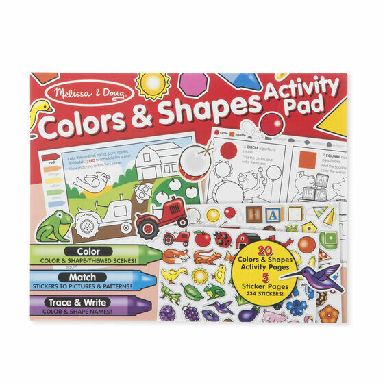 ACTIVITY & STICKER PAD 8564-COLORS & SHAPES