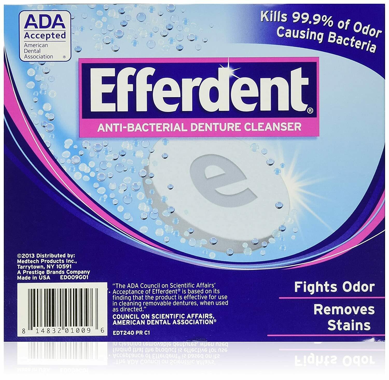 ORAL HYGIENE Efferdent Denture Cleanser