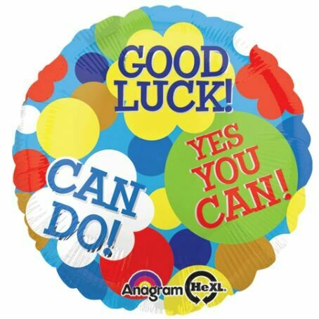 18 - GOOD LUCK YOU CAN DO IT DOTS