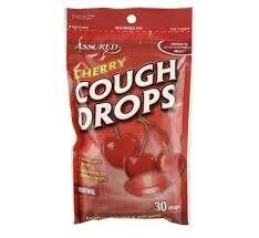 COUGH DROPS NEW ASSURED CHERRY