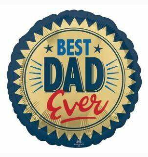 18 - BEST DAD EVER GOLD STAMP