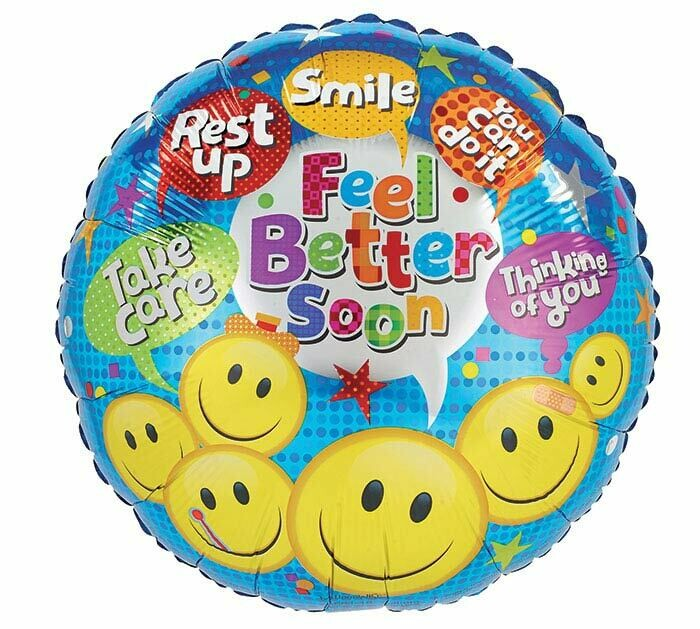 18 - FEEL BETTER SOON EMOJI'S WITH CONVERSATION BUBBLES