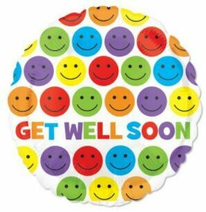 17 - GET WELL SOON SMILEY FACE DOTS