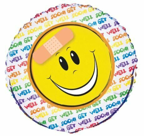 18 - GET WELL HAPPY FACE WITH BANDAID