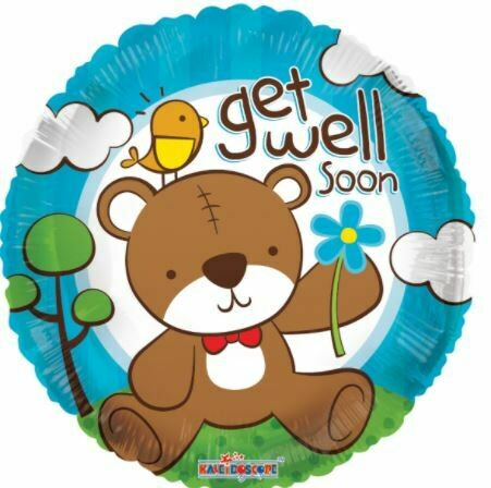 18 - GET WELL SOON BEAR WITH FLOWER