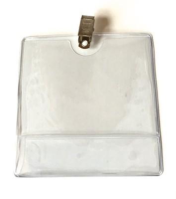 Plastficka, nummerlappshållare