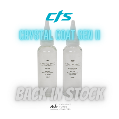 CTS - Crystal Coat Gen II Rod Finish / Rutenbaulack 2x10ml