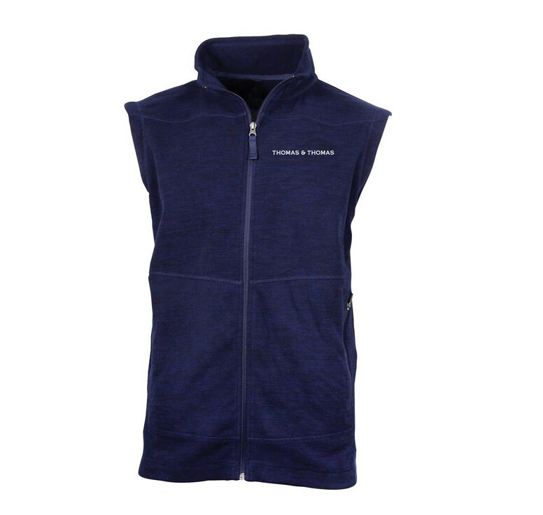 Thomas & Thomas Midnight Navy Thermo Fleece Weste