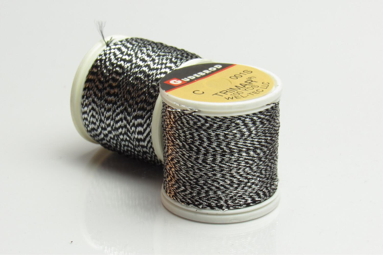 Gudebrod Trimar silver / black 100 yds Garn thread