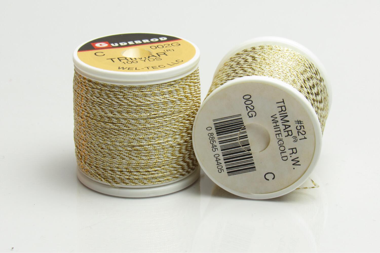 Gudebrod Trimar weiss/gold 100 yds Garn thread
