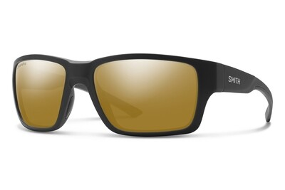Smith Optics - Outback Matte Black Polar Bronze Mirror Polbrille