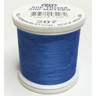 YLI Premium Bindeseide 207 Blue - 200m