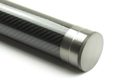 Carbon Rutenrohr 84cm & 94cm - glossy / dark titanium