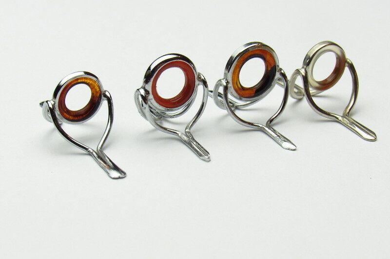 Agate Stripping Guide 12mm SET  (4 STK) BROWN silber