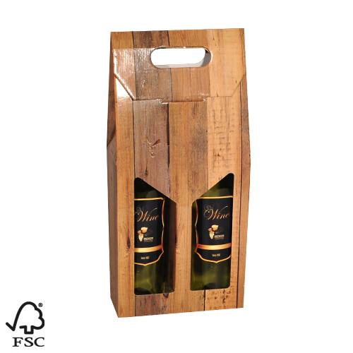 Holthoeve wijndoos draagkarton 2 flessen