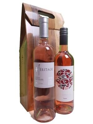 2 flessen Rosé in geschenkverpakking
